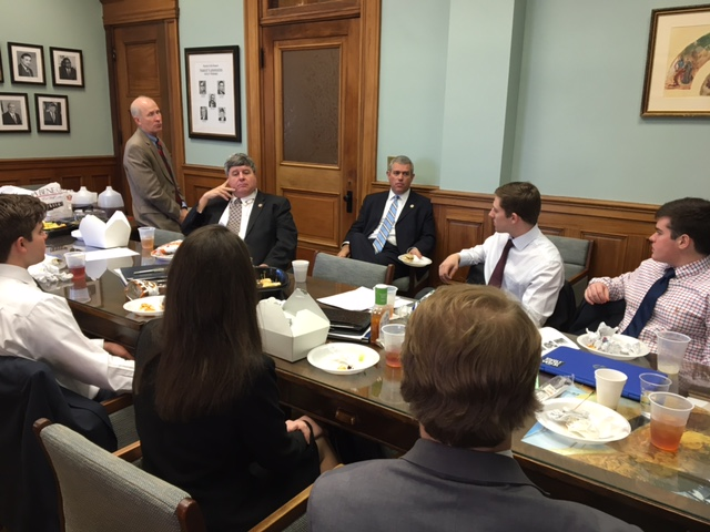Public Policy Leadership Students in Policy Advocacy Class Working With Mississippi State Governor and State Legislators