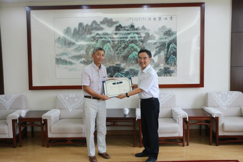 Dr. Chen was appointed as honorary professor at North China University of Technology in Beijing, China.